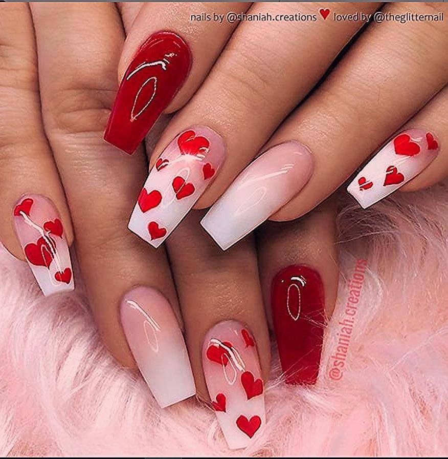 Photo of #valentines Tag Nägel Acryl Sarg 50 Pretty French Pink Ombre und Glitter On … … – BestBLo…