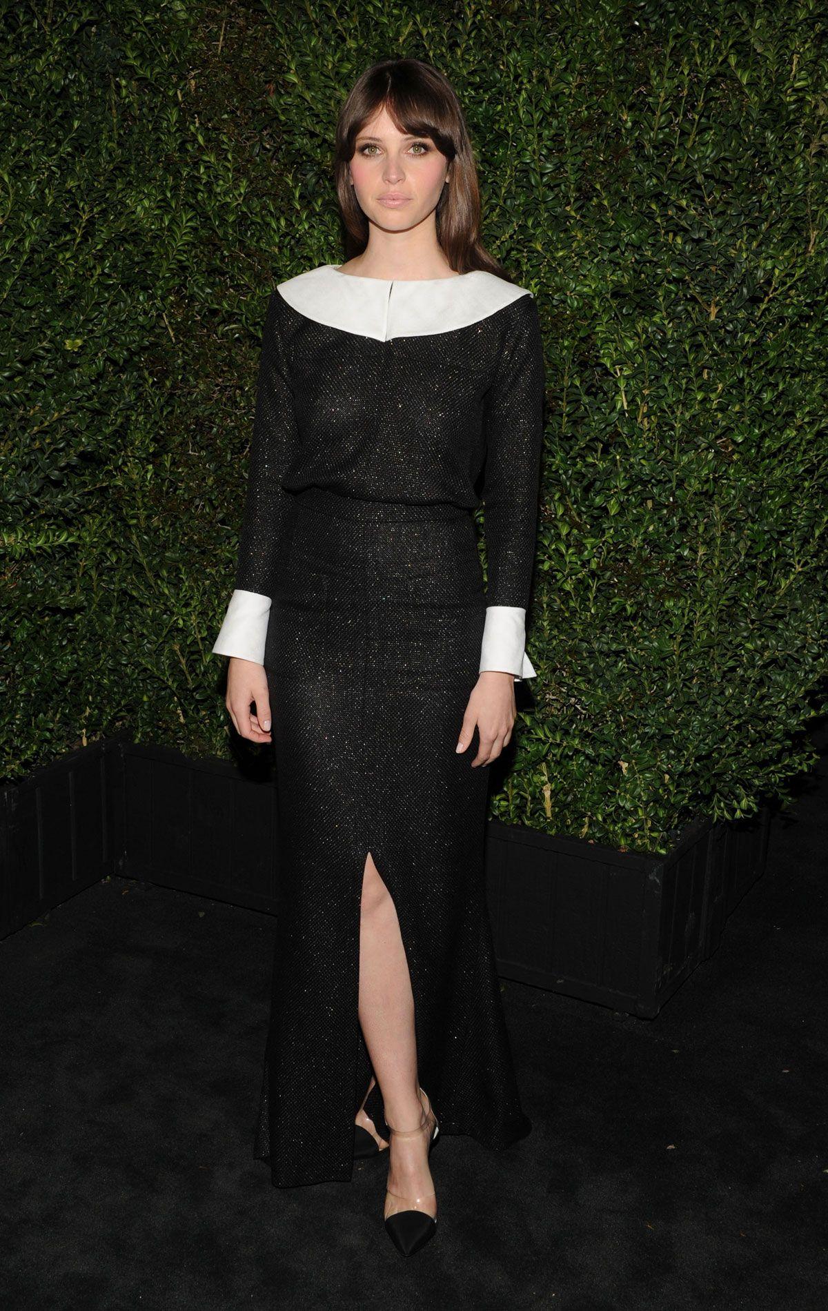 Felicity Jones at Chanel Pre-Oscar Dinner Party in Los Angeles, 2013.