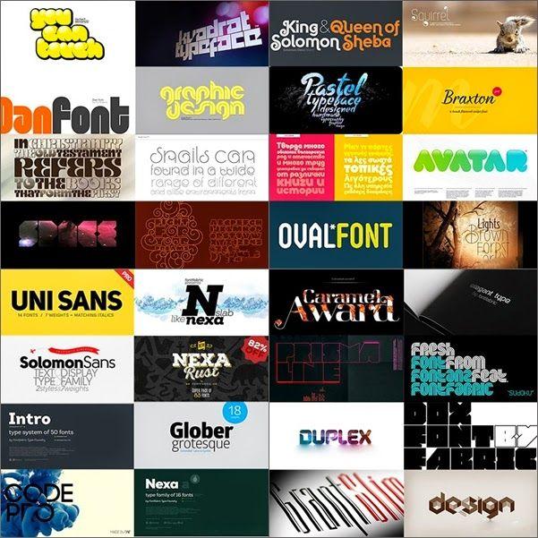 مجموعة خطوط انجليزية جديدة 2014 Fontfabric Mega Font Family Bundle Font Family Solomon And Sheba Fonts