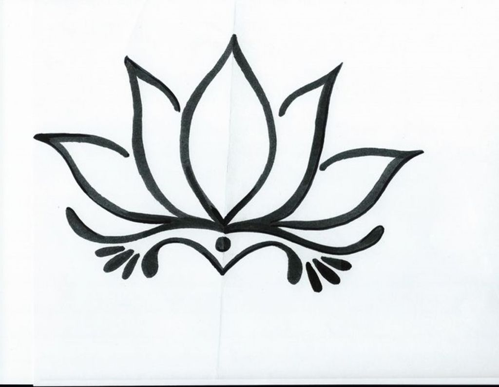 Image Result For Lotus Flower Line Drawing Windows Pinterest