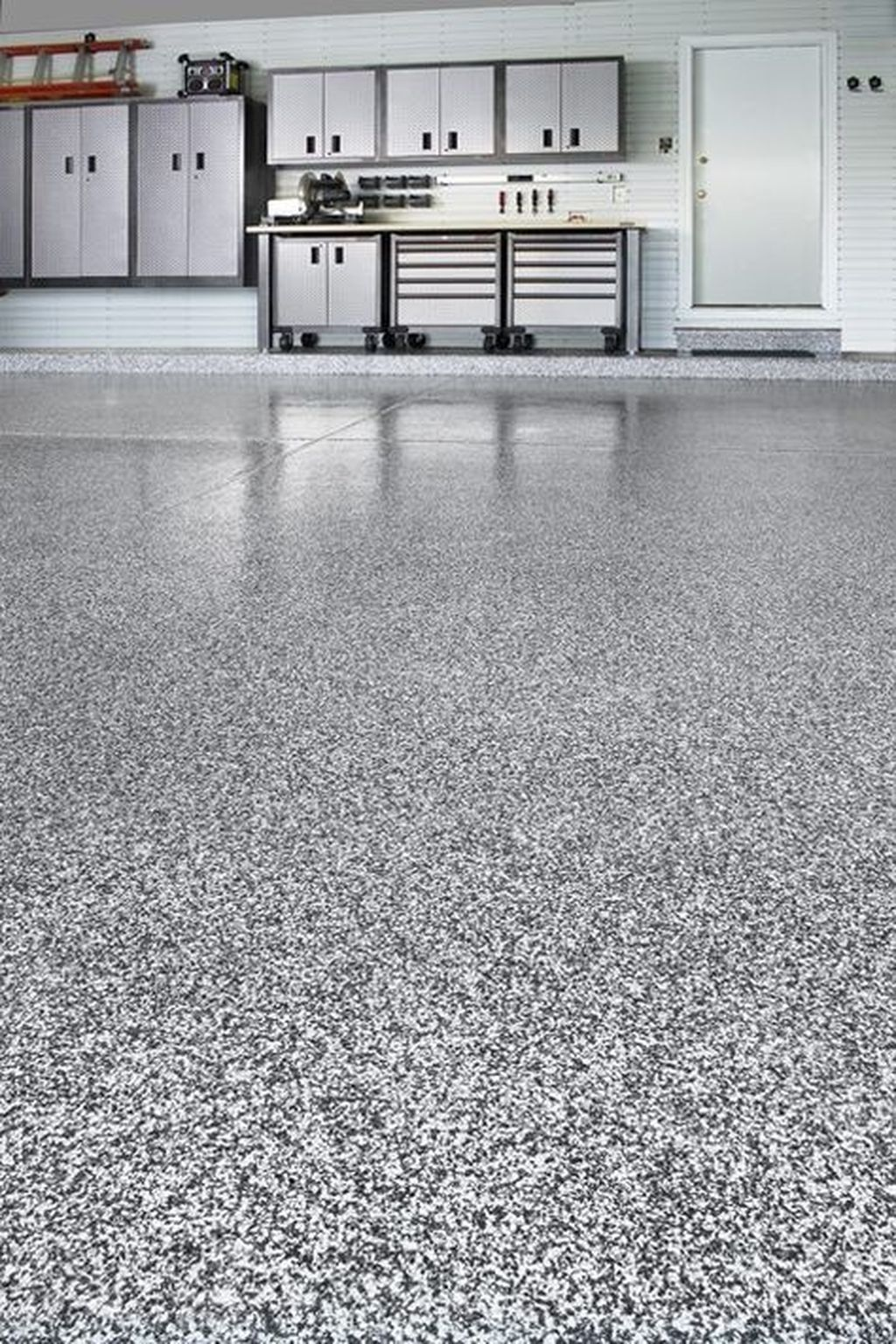 20 Pretty Garage Floor Design Ideas That You Can Try In Your Home Coodecor Garage Floor Paint Garage Floor Coatings Garage Makeover