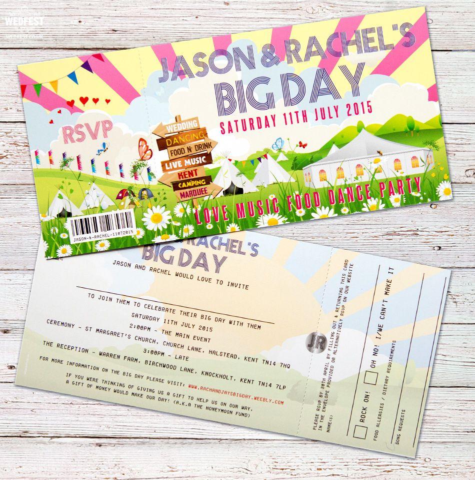 Cinema ticket wedding invitations http://www.wedfest.co/cinema-and ...