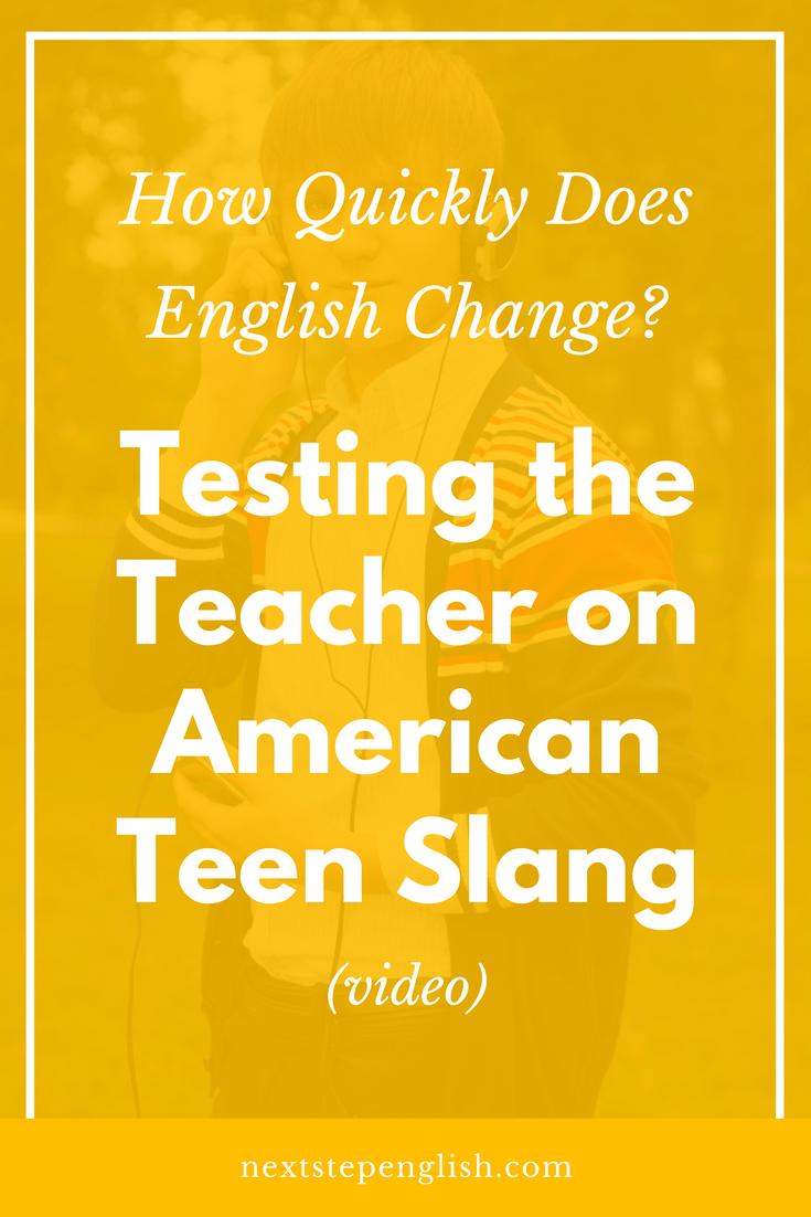 slang teen american