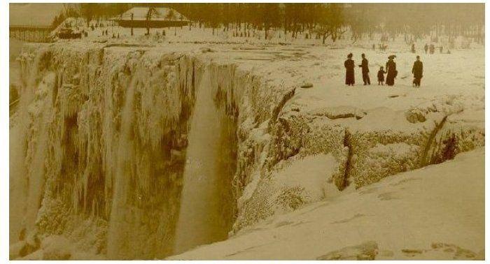 Niagara Falls frozen over in 1911