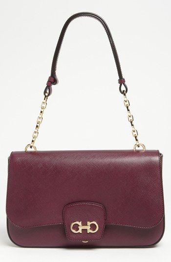 202b51f0395f Salvatore Ferragamo  Bree  Leather Shoulder Bag available at  Nords ...