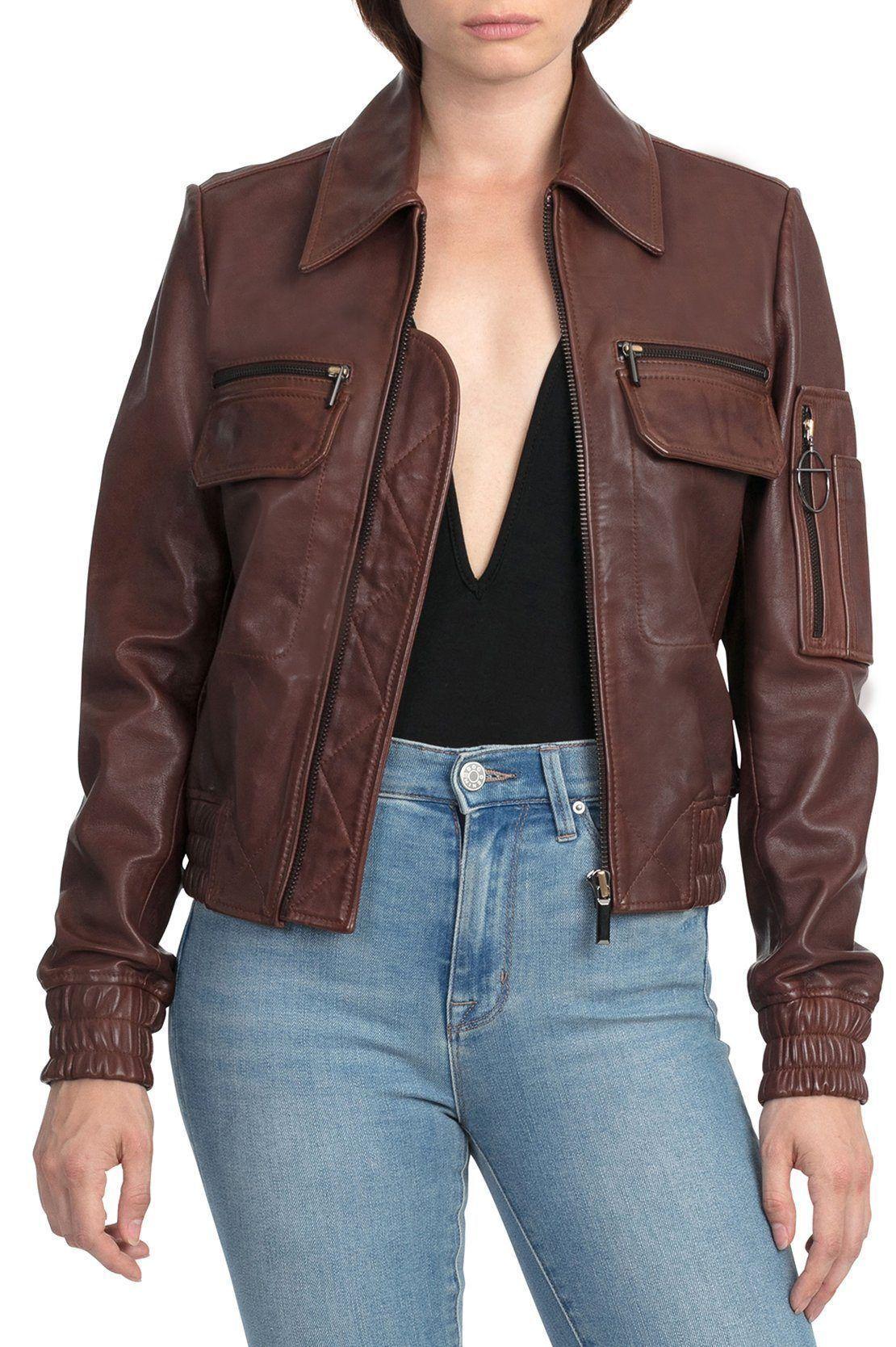 Mahogany (With images) Aviator leather jacket, Leather