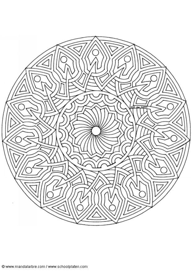 Coloring Pages Special Mandala 353