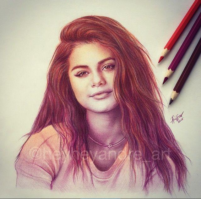 Selena gomez drawing artistiq