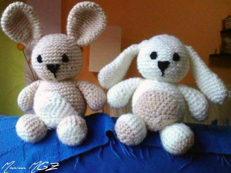 Conejo Amigurumi Patron Gratis : Conejitos amigurumi patrón gratis en español conejo orejas