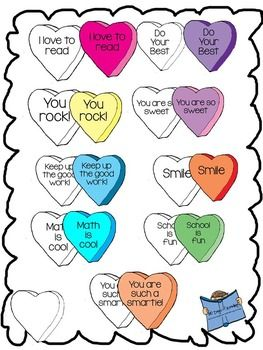 FREE Valentine Conversation Heart Clip Art {Motivational Sayings ...