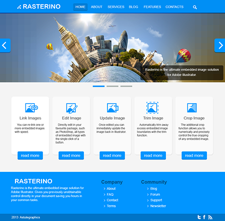 How To Use Rasterino And Illustrator In Web Design Astute Graphics Web Design Webpage Design Beautiful Website Design