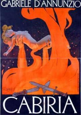 En este personaje llamado Cabiria, Fellini basó su chica de la calle de Las Noches de Cabiria. Aparece por 1ra vez en Los Inútiles. Es el mismo nombre de un título monumental del cine italiano silente del año 1914, dirigido por Giovanni Pastrone. En el afiche, las llamas aluden a una erupción del Etna durante el siglo II a.C., que sucede en el mismo momento en que ella es raptada por los cartagineses.