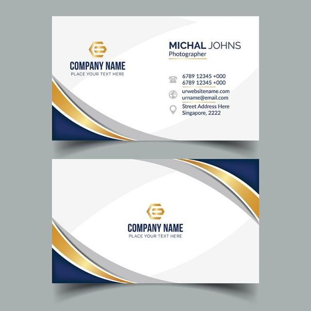 Fashionable Business Card Design Business Vector Card Vector