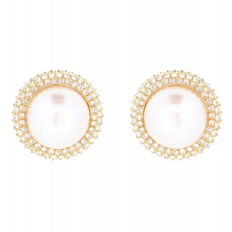 18K Rose Gold Dia 1.74 Ct Pearls #MLjewels #Pearls #Earrings