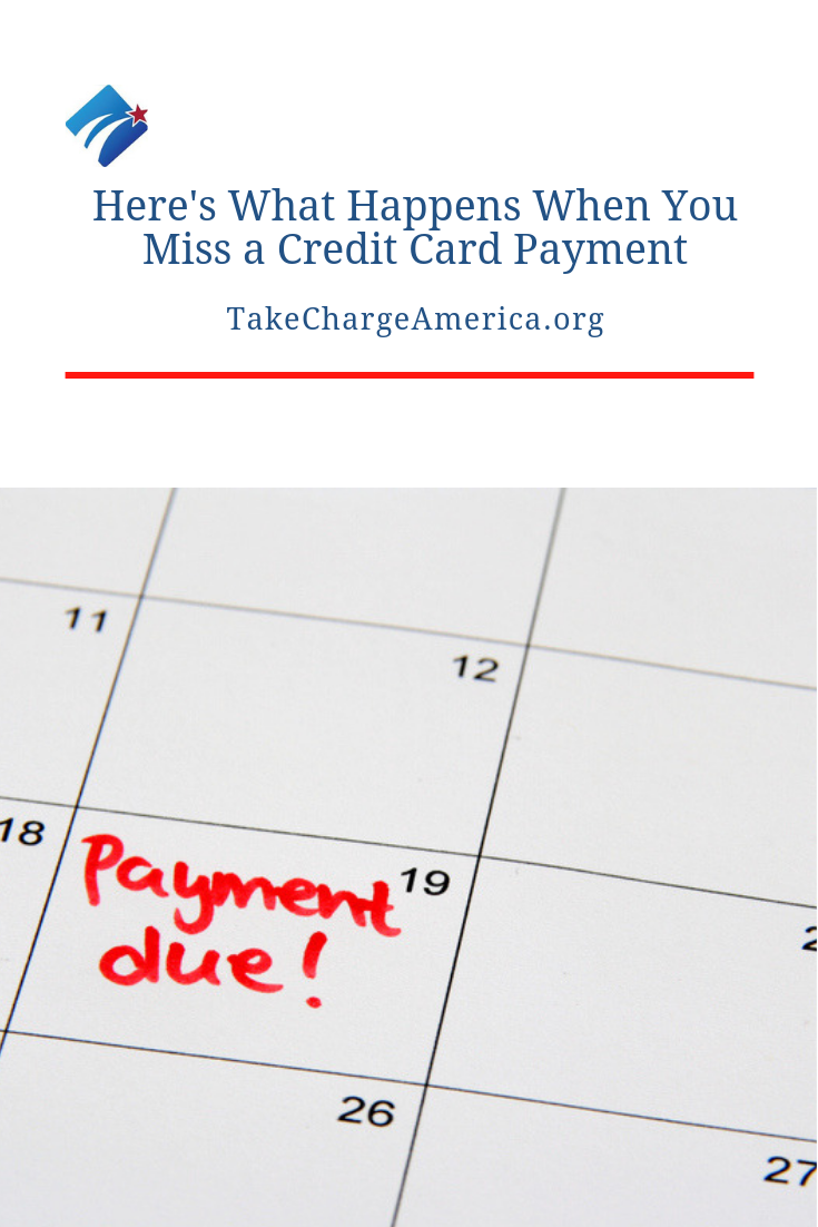 What Happens When You Miss A Credit Card Payment Credit Card Payment Financial Education Credit Card