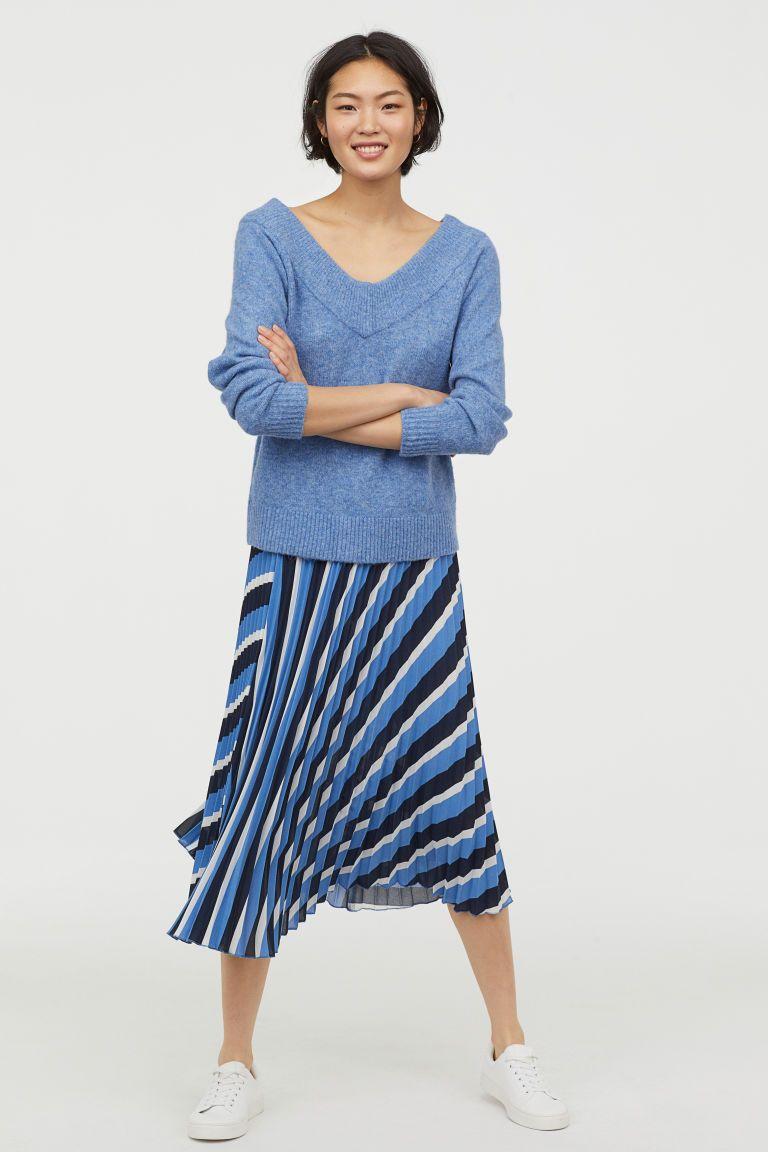 Jupe plissée | Jupe plissée bleue, Jupe et Jupe plissée