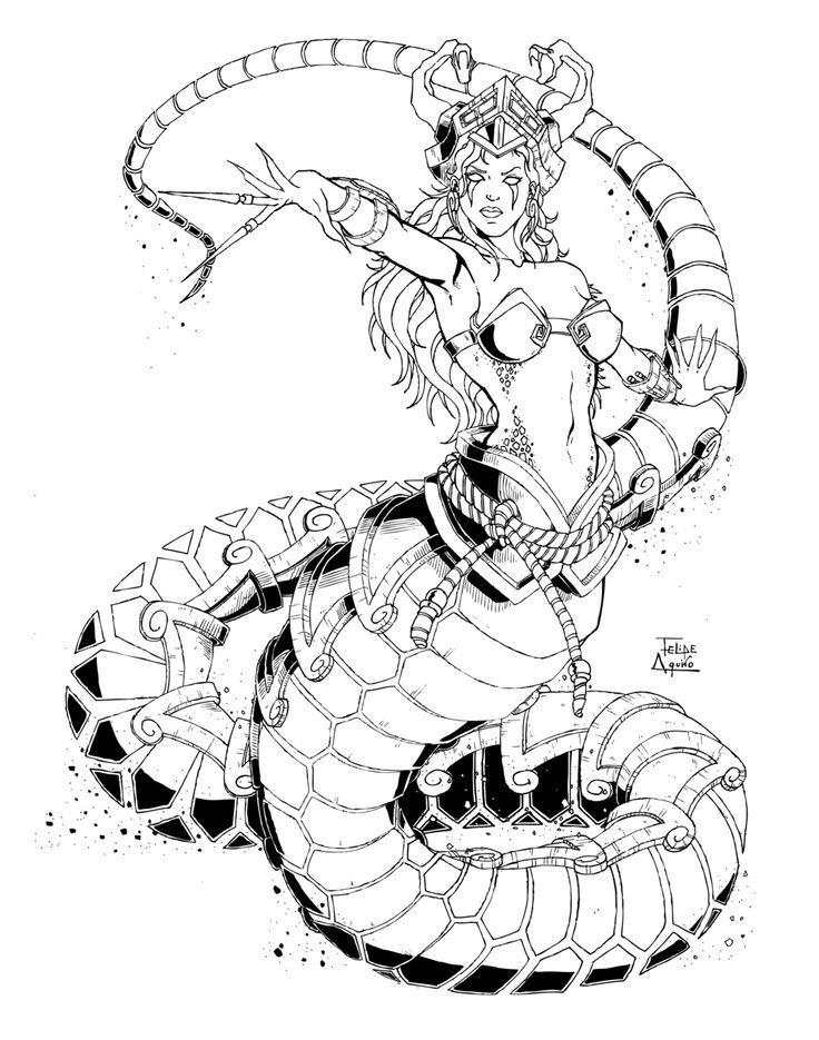 Créature fantastique Coloring Pages Dragons, Reptiles \ Dinosaurs - fresh coloring pages of league of legends
