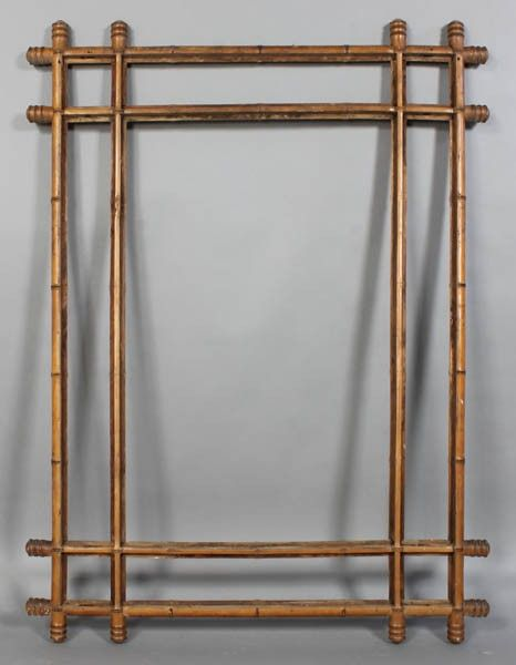 faux bamboo picture frames 758 large antique faux bamboo mirror frame c1870