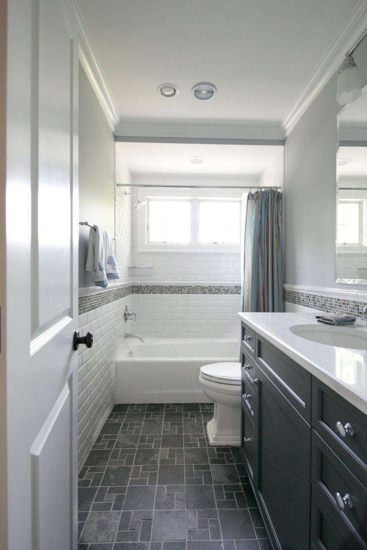Long narrow hall bath layout idea (mirror image) *M*   Interior ...