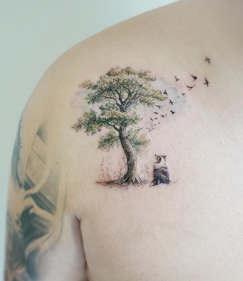 50 Gorgeous and Meaningful Tree Tattoos Inspired by Nature's Path –   – #gorgeous #inspired #meaningful #nature #Natures
