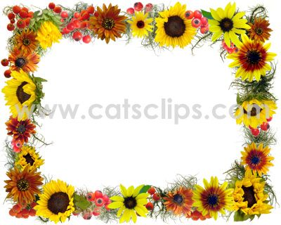 sunflower border clip art fall