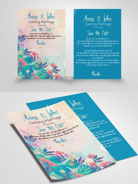 Wedding Invitation Flyer Template Romantico, Volantini e Font - invitation flyer template