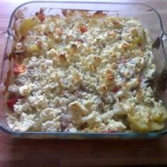 Photo of Ground beef and sheep's cheese casserole