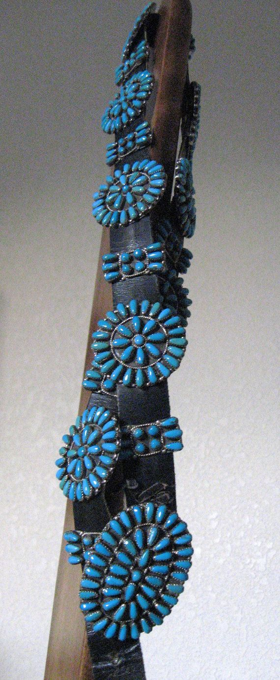 Vintage Native American Concho Belt Sterling Silver by thebestest, $595.00