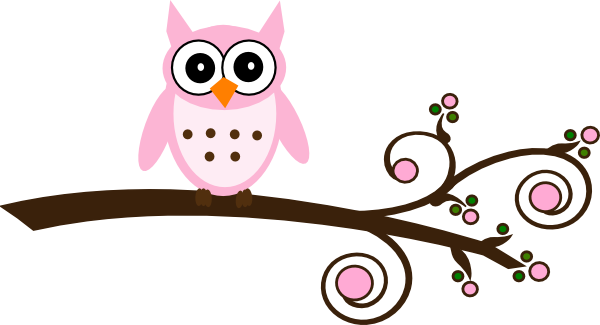 free printable owl clip art other formats svg baby shower girl rh pinterest com free pink owl clipart Owl in Tree Clip Art