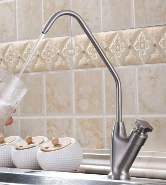 Free Shipping SUS304 Stainless Steel Lead Free Kitchen Drinking Water  Filter Tap Faucet,Drinking