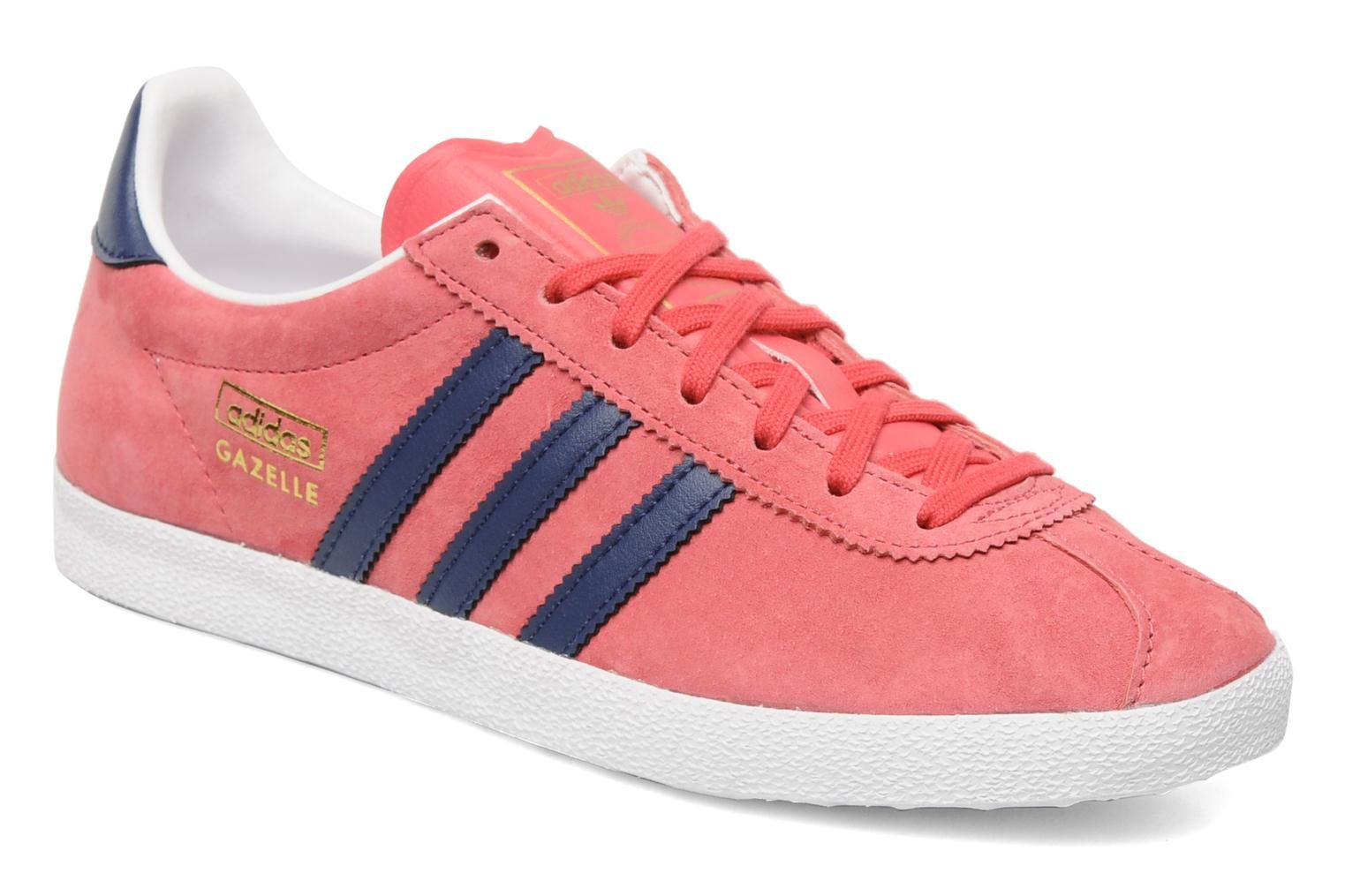 Adidas Originals Gazelle og w (Rose) Baskets chez Sarenza