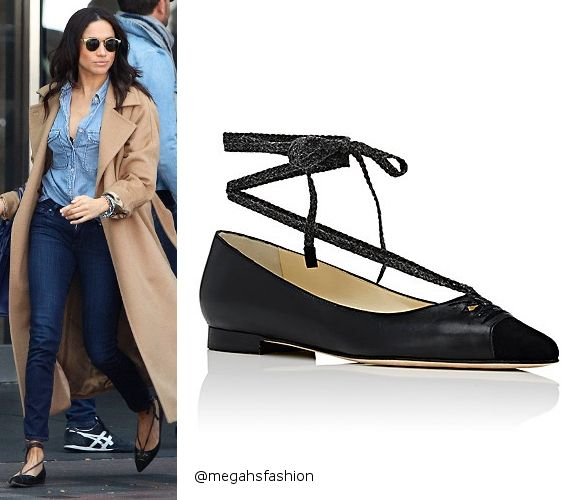 Sarah Flint Lily Ankle-Tie Flats Aso Meghan Markle