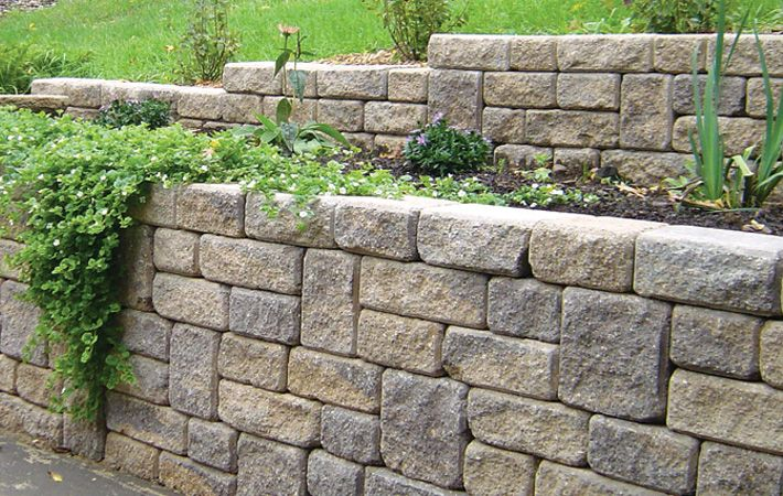 Romanstack Interlock Concrete Products Inc Interlocking Paving Stones Slabs Retaining Walls Rock Garden Landscaping Backyard Landscaping Retaining Wall