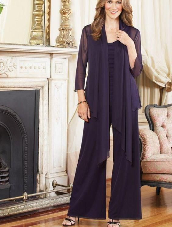 Image result for chiffon overcoat long trouser suit | Wedding ...