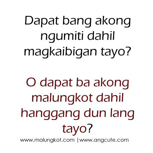 Happy Quotes Tagalog Twitter: Tagalog Sad Love Quotes