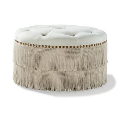 Ottoman 36 Round W Tufted Top From The Raymond Waites Couture Collection At Laneventure Com Nailhead Furniture Tire Furniture Furniture Accessories