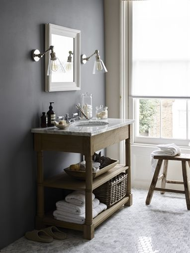 Neptune Edinburgh Undermount Open Washstand Large Bathroom Washstands