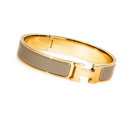 d24123d90c Hermès] 'Clic H' Narrow Enamel Bracelet, *Available in Gold or ...