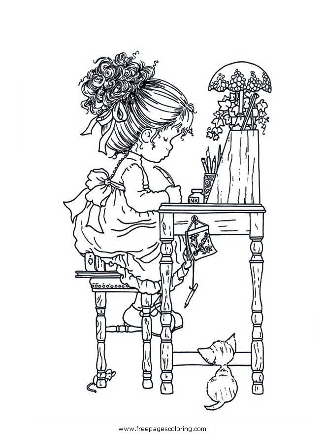 coloring pages Sarah Kay | 홀리 하비 사라 케이 | Pinterest ...