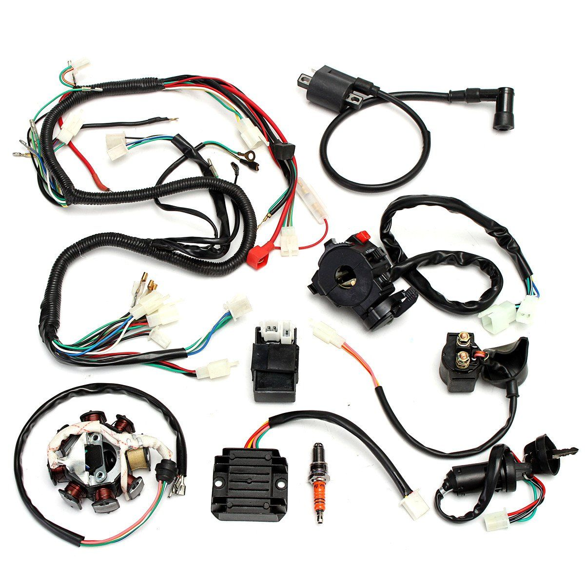 medium resolution of coolster 110cc atv parts furthermore 110cc pit bike engine diagram along with coolster 125cc atv wiring diagram and razor e300 stator 150cc tao tao