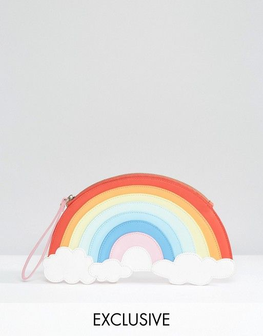 LYDC Exclusive Rainbow Wristlet Clutch Bag