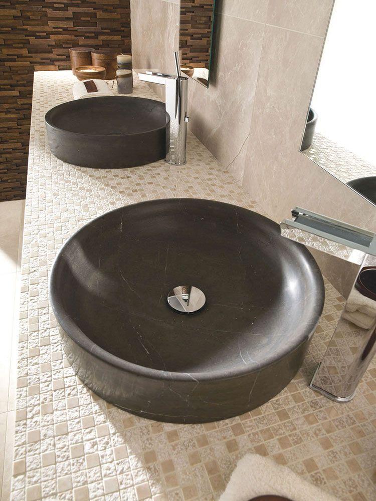 Lavabo bagno in pietra da appoggio 05 bagni di design pinterest powder room and room - Lavabo bagno in pietra ...