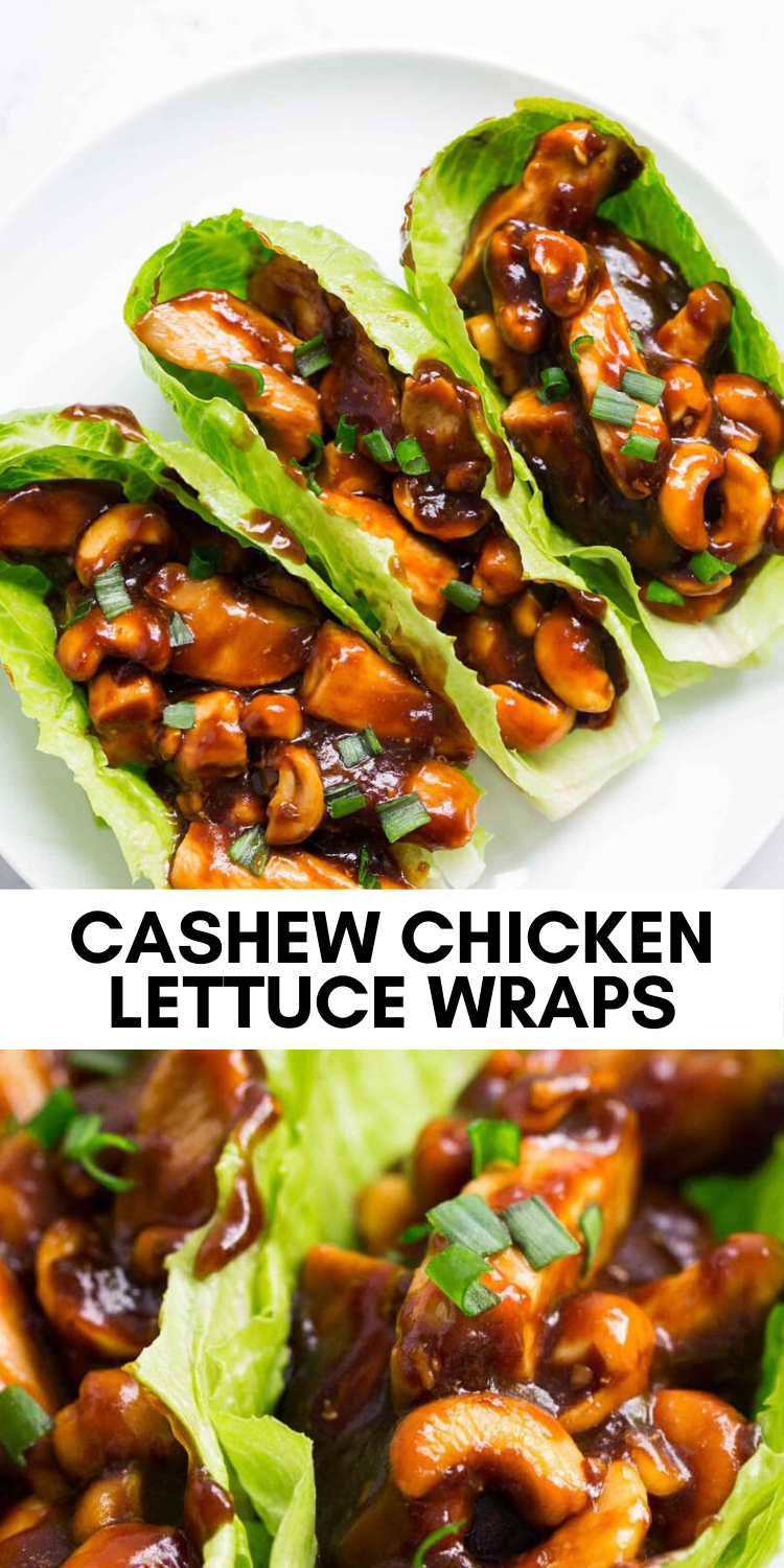 Photo of EASY Cashew Chicken Lettuce Wraps