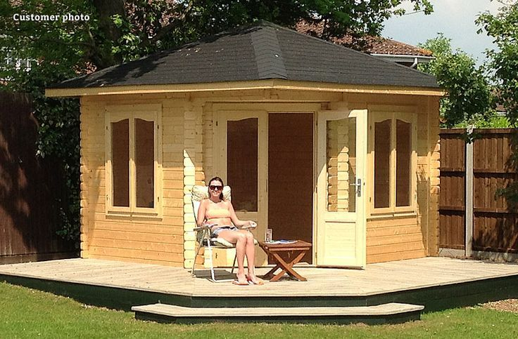 Image result for summer house with decking