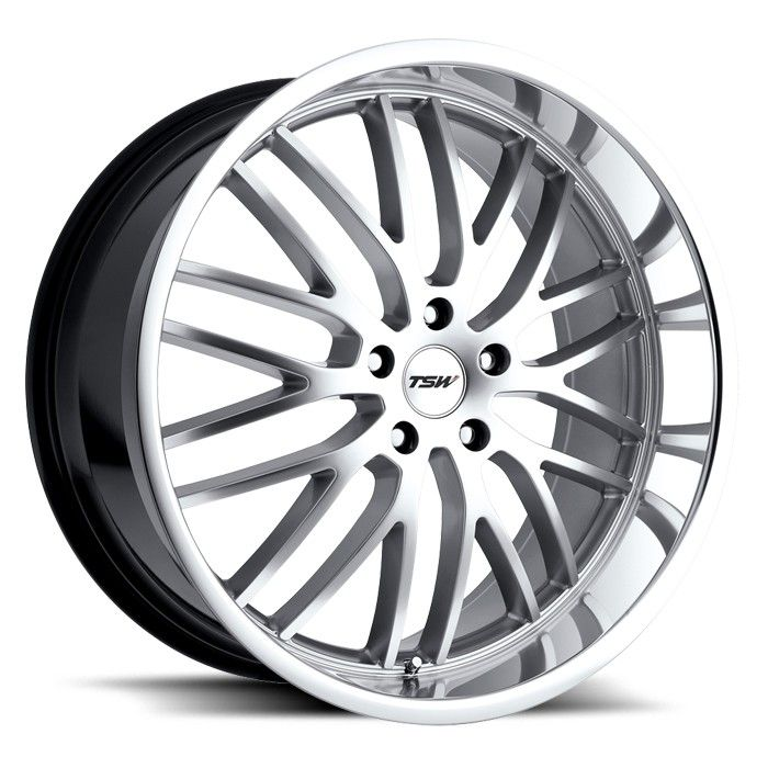 TSW SNETTERTON SILVER POLISHED alloy wheels with stunning