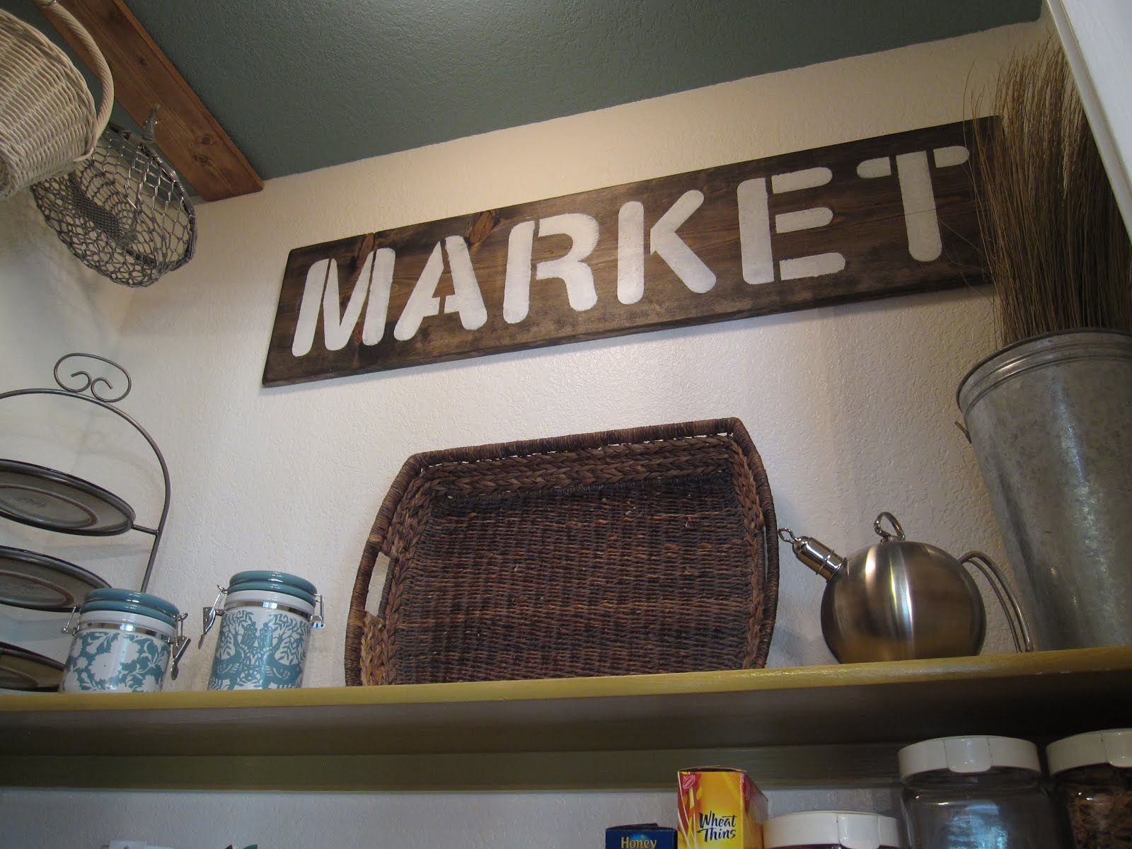 Handmade rustic sign kitchen pantry market diy and craft projects