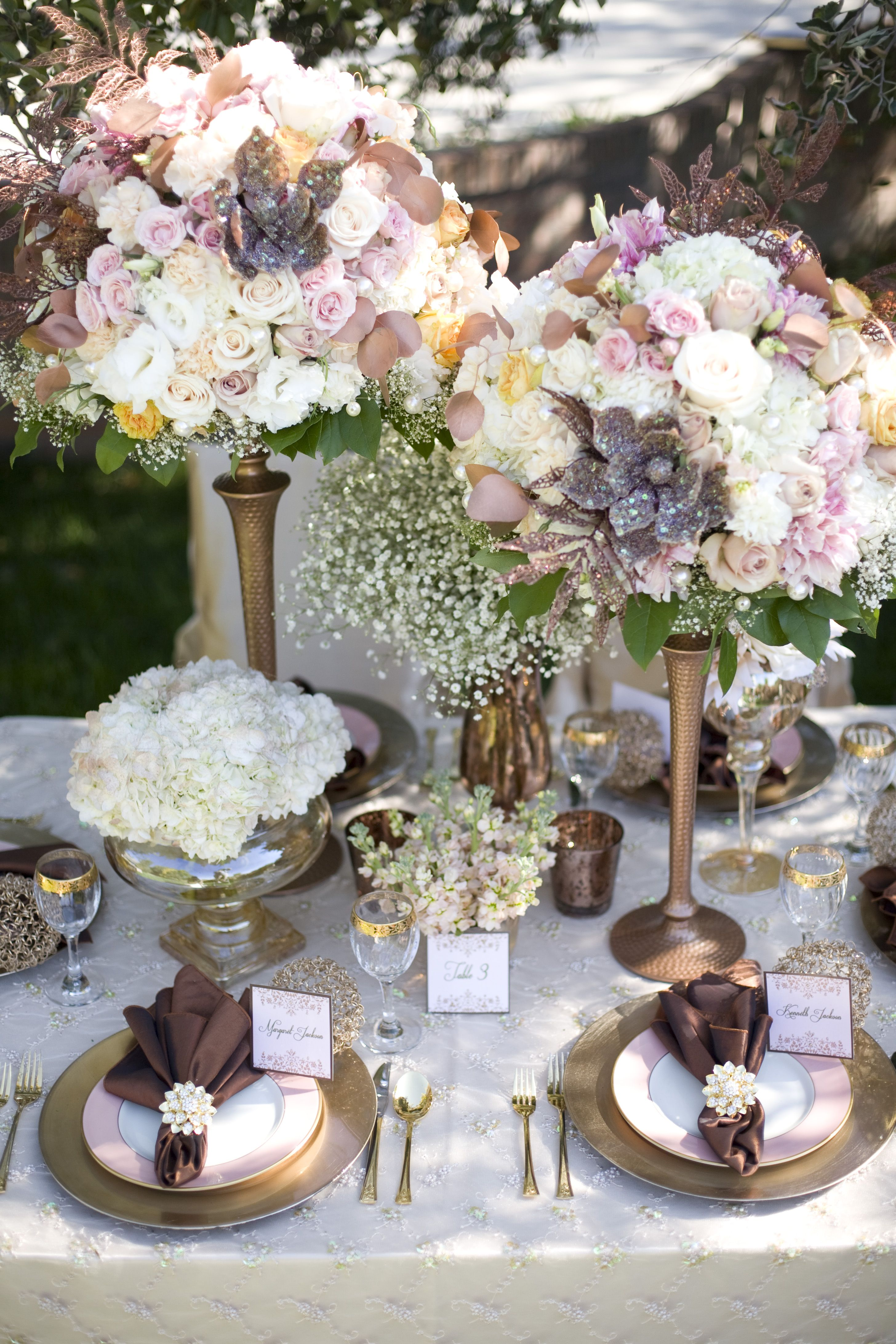 Image Detail For Elegant Chic Copper Fall Wedding Tablescape