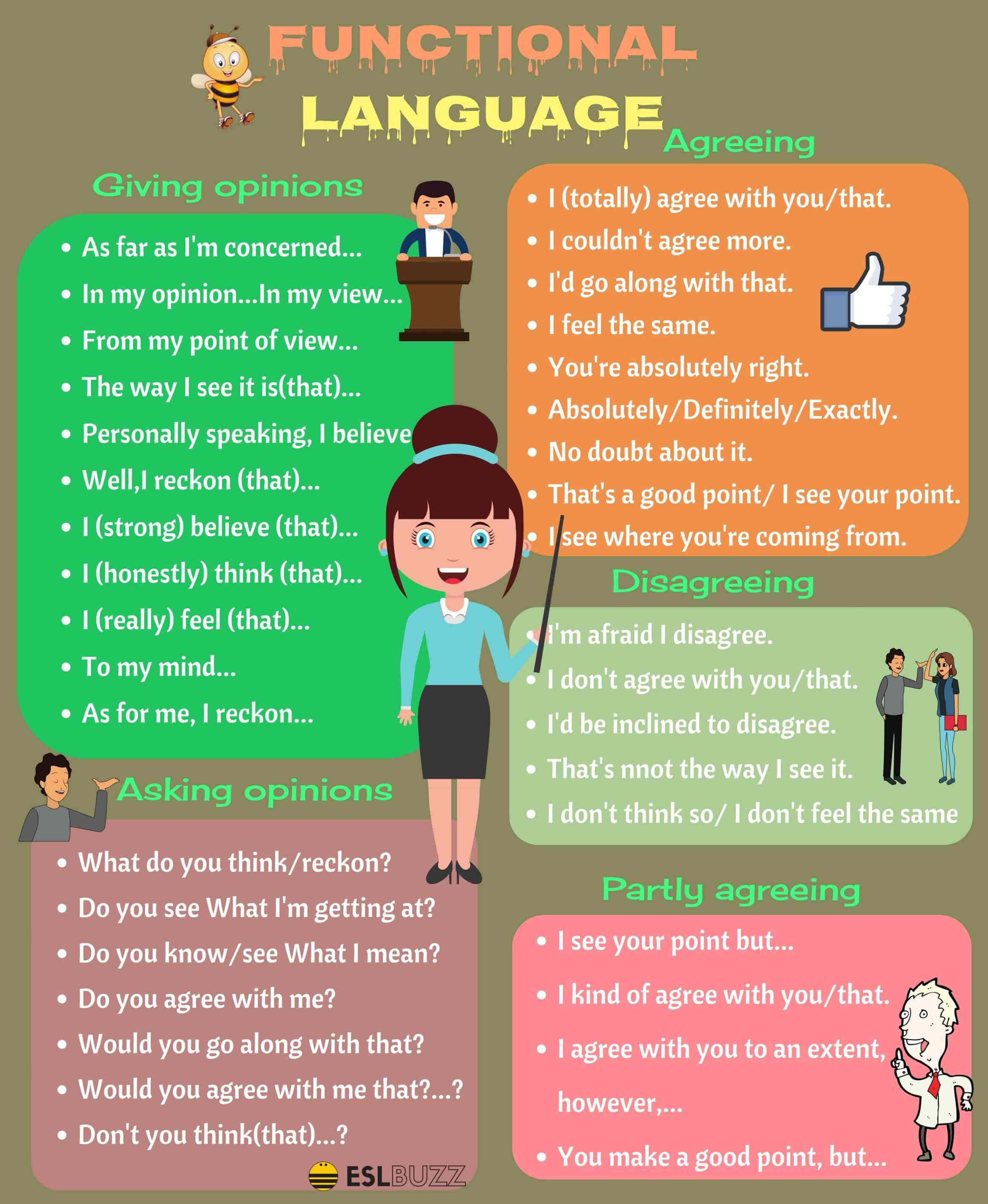Functional Language Useful English Phrases for Discussion