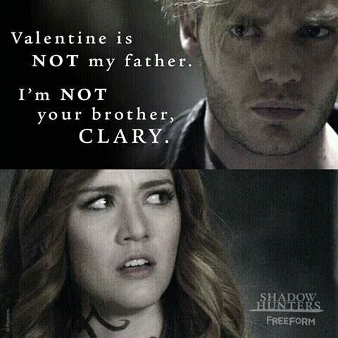 I M Not Your Brother Clary Jace And Clary Shadowhunters 2x11 Shadowhunters Shadow Hunters Shadow Hunters Tv Show