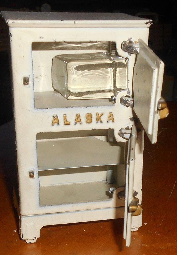 Vintage Cast Iron Alaska Ice Box/Refrigerator Dollhouse Kitchen Toy Icebox 1920s & Ice box - ca1900.jpg | Kitchen | Pinterest | Delivery man ... Aboutintivar.Com